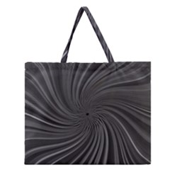 Abstract Art Color Design Lines Zipper Large Tote Bag