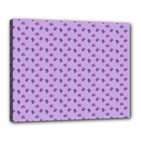 Pattern Background Violet Flowers Canvas 20  X 16