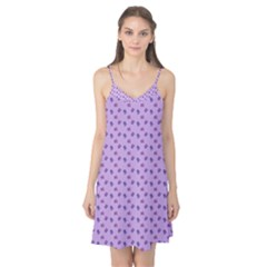 Pattern Background Violet Flowers Camis Nightgown