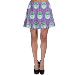 Background Floral Pattern Purple Skater Skirt