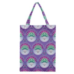 Background Floral Pattern Purple Classic Tote Bag