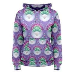 Background Floral Pattern Purple Women s Pullover Hoodie