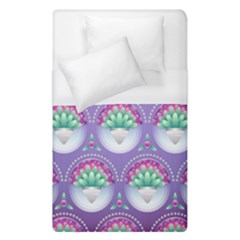 Background Floral Pattern Purple Duvet Cover (single Size)