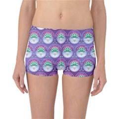 Background Floral Pattern Purple Reversible Bikini Bottoms