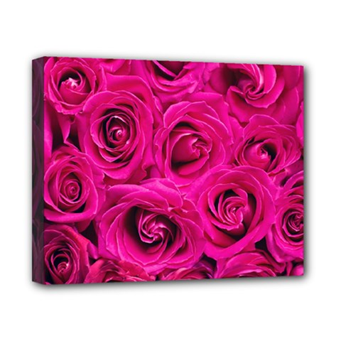 Pink Roses Roses Background Canvas 10  X 8