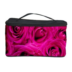 Pink Roses Roses Background Cosmetic Storage Case