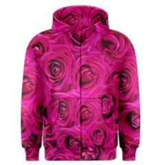 Pink Roses Roses Background Men s Zipper Hoodie