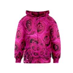 Pink Roses Roses Background Kids  Zipper Hoodie