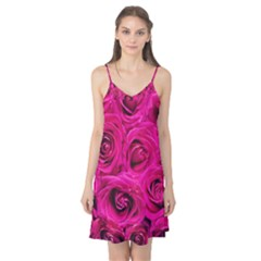 Pink Roses Roses Background Camis Nightgown