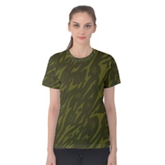 Linux Logo Camo Green Women s Cotton Tee