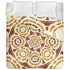 Brown And Tan Abstract Duvet Cover Double Side (california King Size)