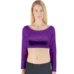Texture Background Backgrounds Long Sleeve Crop Top