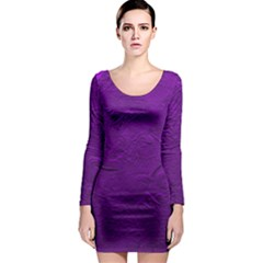 Texture Background Backgrounds Long Sleeve Bodycon Dress