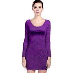 Texture Background Backgrounds Long Sleeve Velvet Bodycon Dress