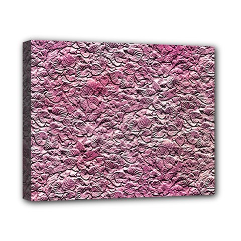 Leaves Pink Background Texture Canvas 10  X 8