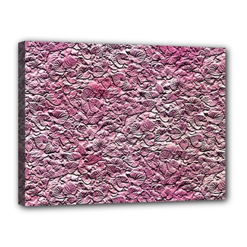 Leaves Pink Background Texture Canvas 16  X 12