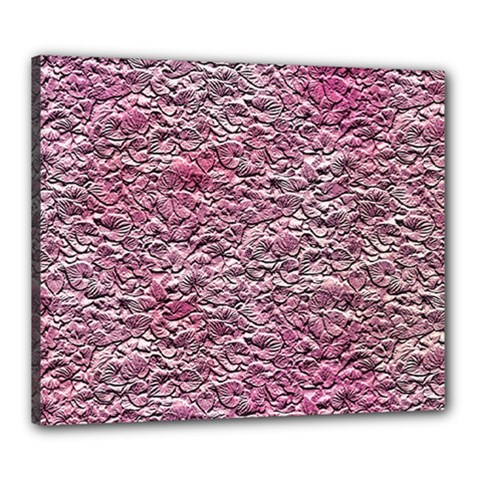 Leaves Pink Background Texture Canvas 24  x 20