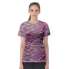 Leaves Pink Background Texture Women s Sport Mesh Tee