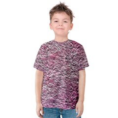 Leaves Pink Background Texture Kids  Cotton Tee