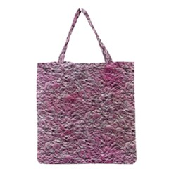 Leaves Pink Background Texture Grocery Tote Bag