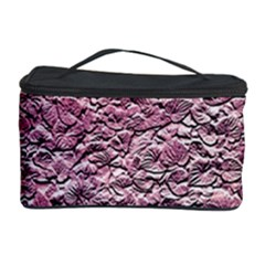 Leaves Pink Background Texture Cosmetic Storage Case
