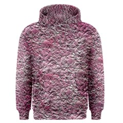 Leaves Pink Background Texture Men s Pullover Hoodie