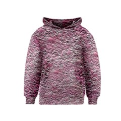 Leaves Pink Background Texture Kids  Pullover Hoodie