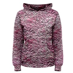 Leaves Pink Background Texture Women s Pullover Hoodie