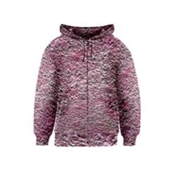 Leaves Pink Background Texture Kids  Zipper Hoodie