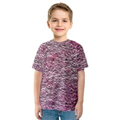 Leaves Pink Background Texture Kids  Sport Mesh Tee