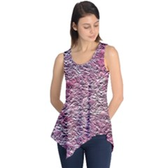 Leaves Pink Background Texture Sleeveless Tunic