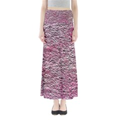 Leaves Pink Background Texture Maxi Skirts
