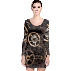 Steampunk Long Sleeve Bodycon Dress
