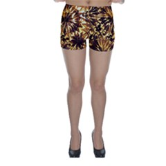 Mussels Lamp Star Pattern Skinny Shorts