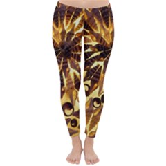 Mussels Lamp Star Pattern Classic Winter Leggings