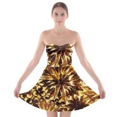 Mussels Lamp Star Pattern Strapless Bra Top Dress
