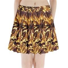 Mussels Lamp Star Pattern Pleated Mini Skirt