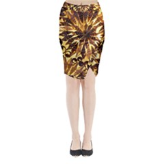 Mussels Lamp Star Pattern Midi Wrap Pencil Skirt