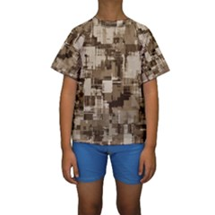 Color Abstract Background Textures Kids  Short Sleeve Swimwear