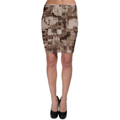 Color Abstract Background Textures Bodycon Skirt