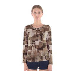 Color Abstract Background Textures Women s Long Sleeve Tee