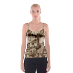 Color Abstract Background Textures Spaghetti Strap Top