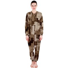 Color Abstract Background Textures Onepiece Jumpsuit (ladies)