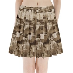 Color Abstract Background Textures Pleated Mini Skirt