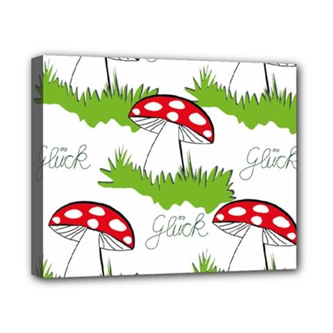 Mushroom Luck Fly Agaric Lucky Guy Canvas 10  x 8