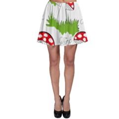 Mushroom Luck Fly Agaric Lucky Guy Skater Skirt