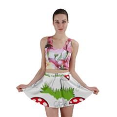 Mushroom Luck Fly Agaric Lucky Guy Mini Skirt