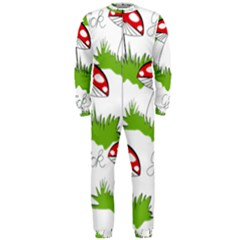Mushroom Luck Fly Agaric Lucky Guy Onepiece Jumpsuit (men)