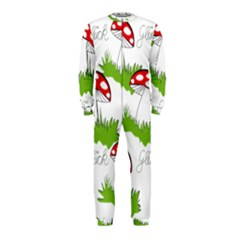 Mushroom Luck Fly Agaric Lucky Guy Onepiece Jumpsuit (kids)