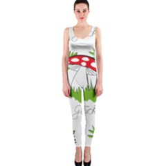 Mushroom Luck Fly Agaric Lucky Guy Onepiece Catsuit